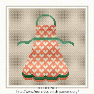APRON, FREE AND EASY PRINTABLE CROSS STITCH PATTERN