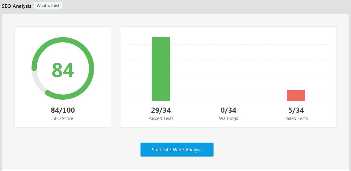 seo analysis tool - rank math