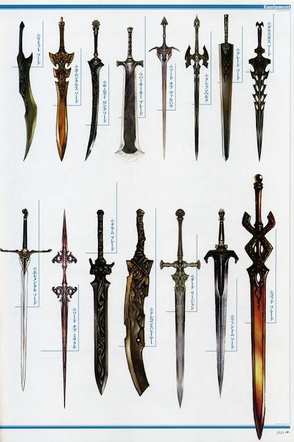 Estas espadas enchem os olhos de qualquer personagem combatente!
