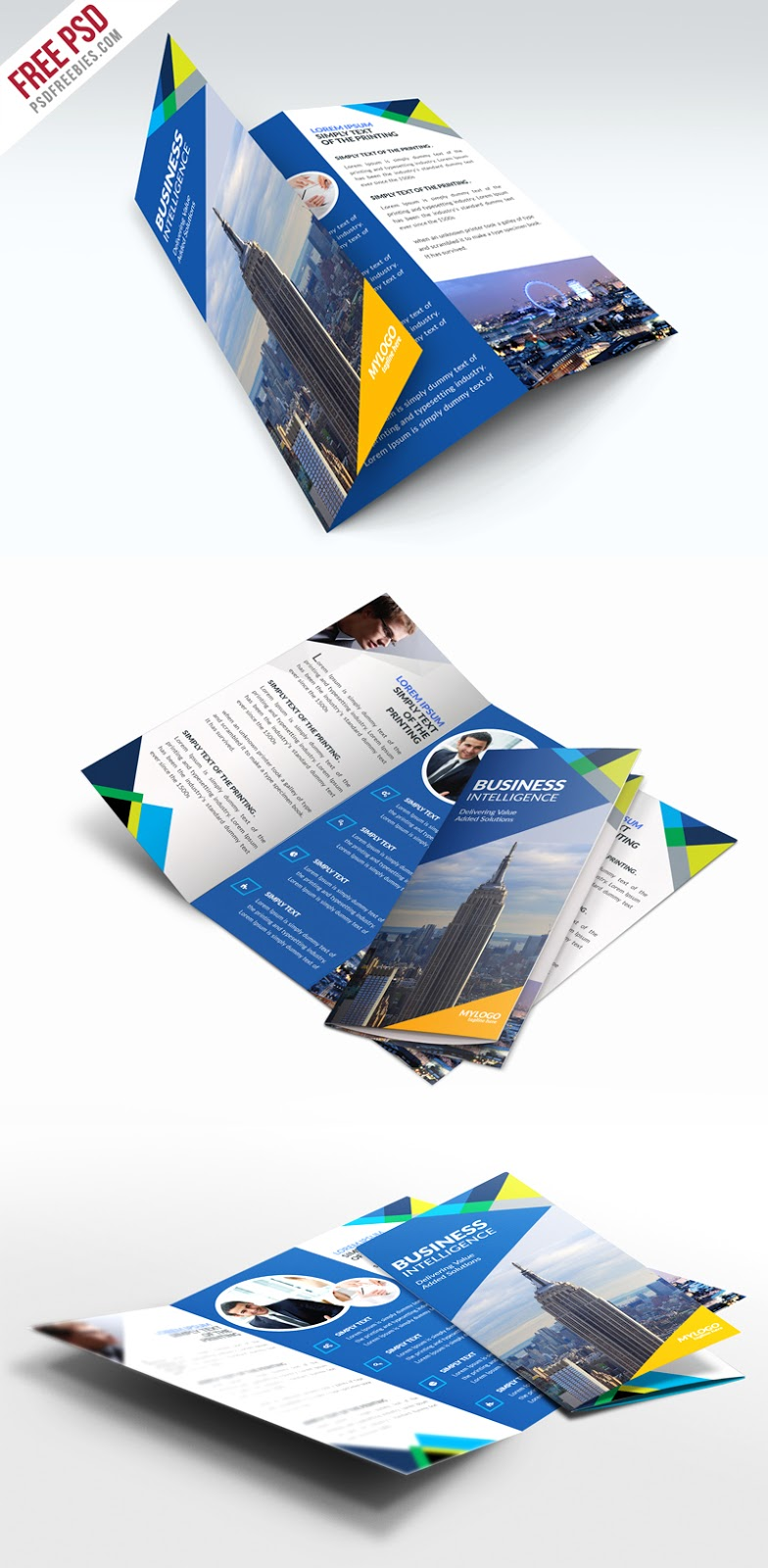 Download Free Business Trifold Brochure Psd Template Free Psd Now