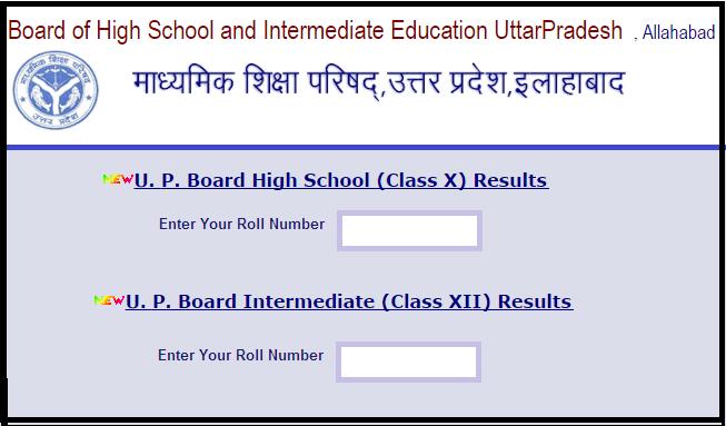 UP Board UPMSP High School Intermediate Results
