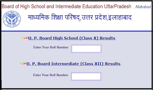 UP Board High School Intermediate Results