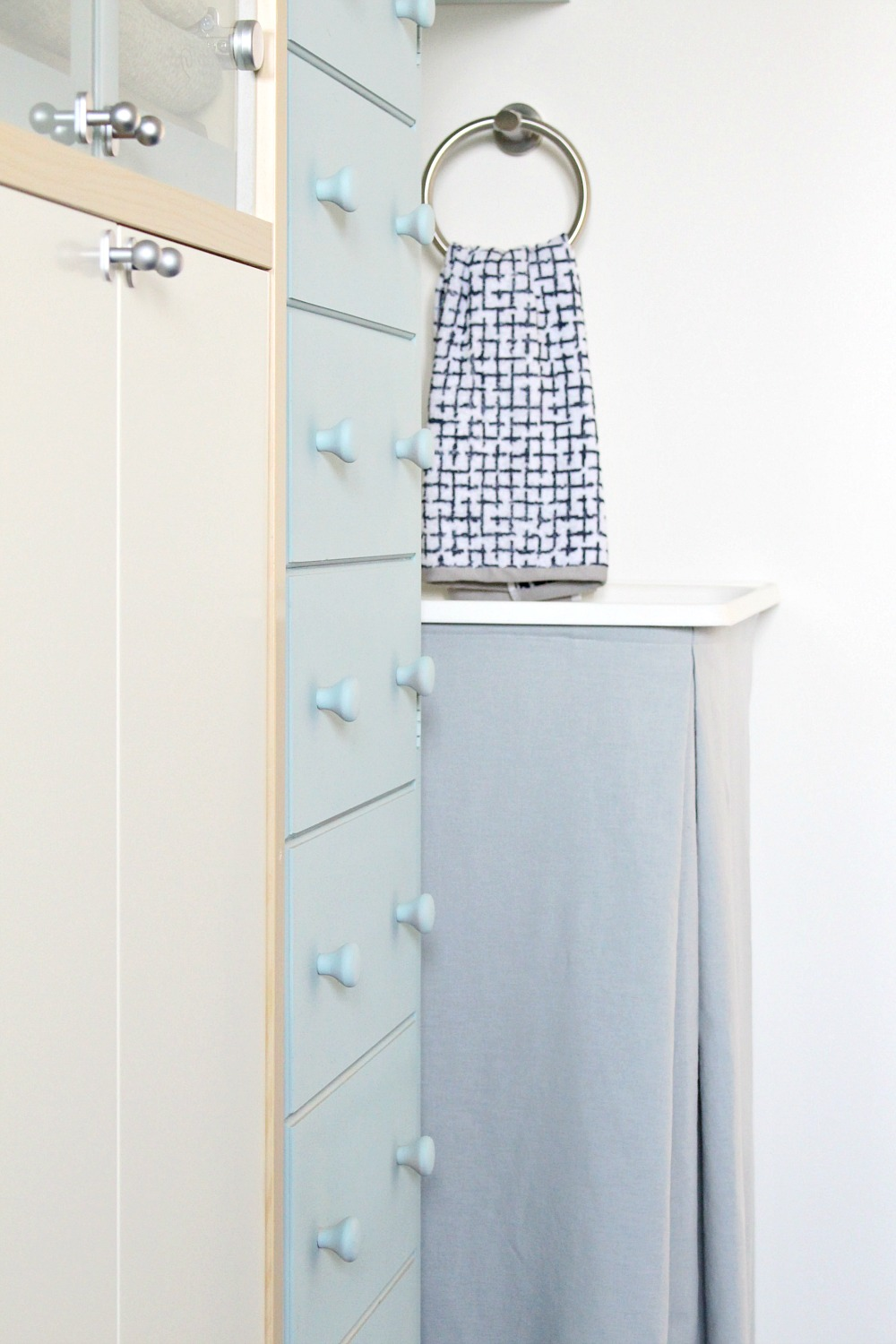 DIY Utility Sink Skirt
