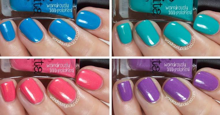 Wondrously Polished Bonita Colors Spring Collection Part 1 Swatches Amp Review