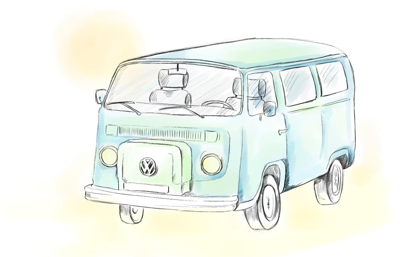 Vw Bus Malvorlage Auto zeichnungen Auto zeichnen Autos