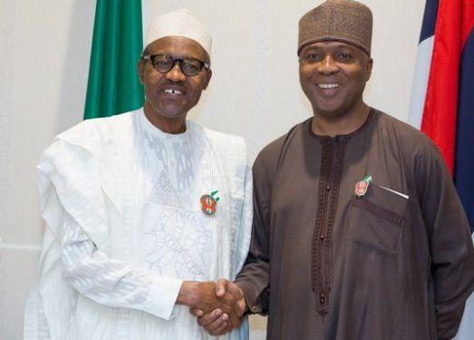 "Buhari praises Saraki, calls him ""One Of The Most Influential Politicians Of Our Time"""