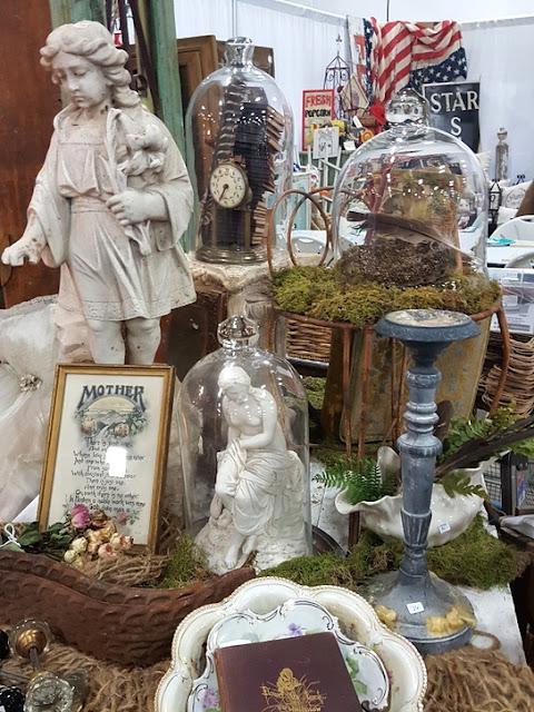 beautiful display of statues