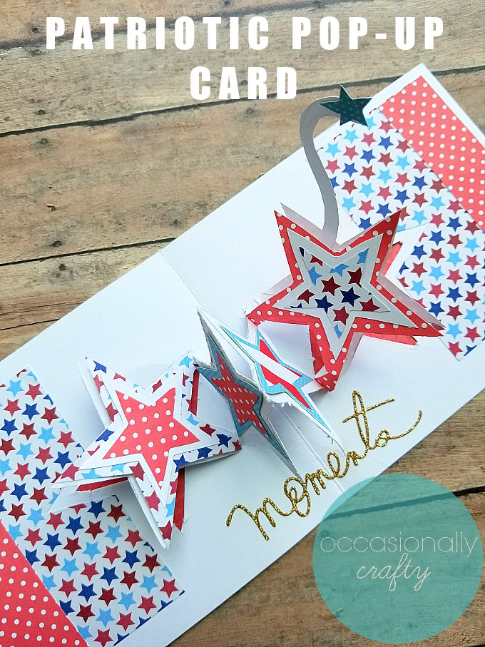 Want to share some love with the servicemen or women in your life this summer?  Make this easy Patriotic Pop Up Card and share the love with our troops!