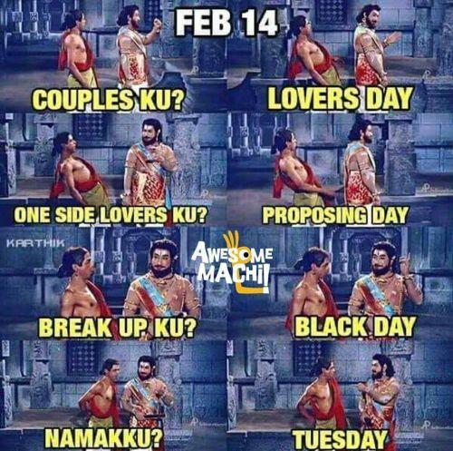 Tamil Memes: Singles Vs Lovers Special Memes