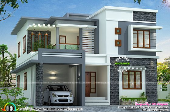 2767 sq-ft flat roof style home