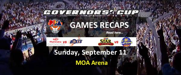 List of PBA Games Sunday September 11, 2016 @ MOA Arena