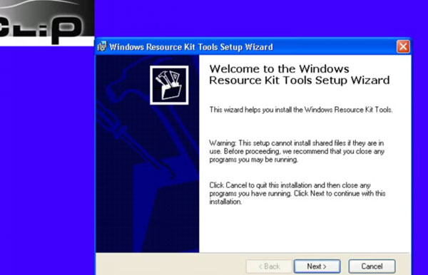 Assistant Kit Outils d'installation de Windows Resource ""
