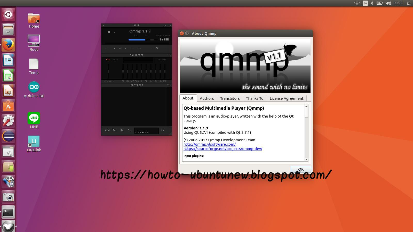 how to install program on ubuntu qmmp music player 1 1 9