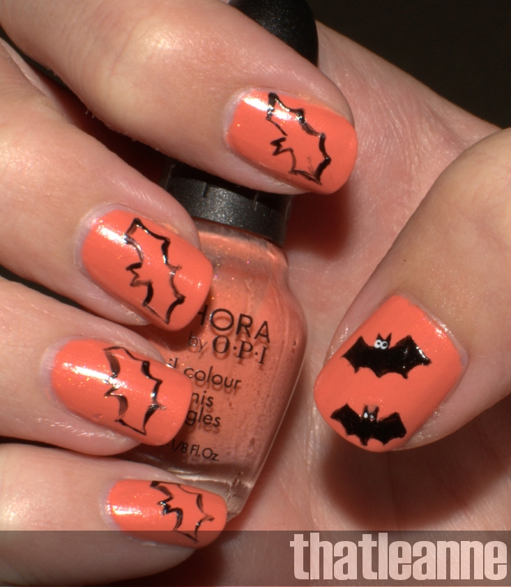 Halloween Nail Art: Thatleanne: Simple Halloween Nail Art Ideas