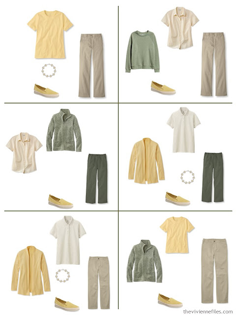 six ways to wear yellow with olive or khaki for warm weather