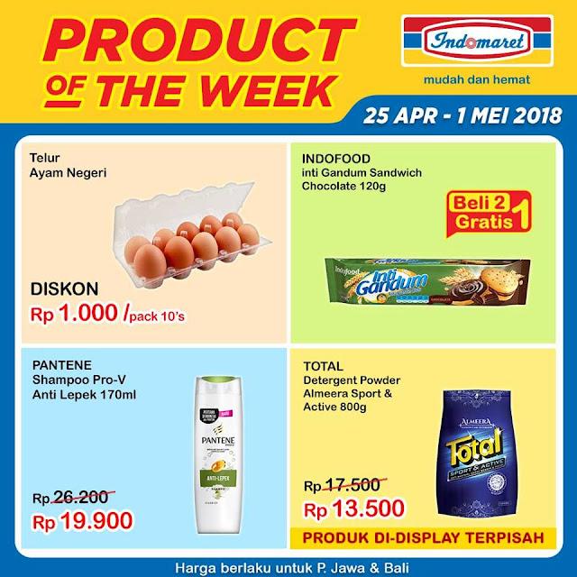 Dapatkan Promo Product Of The Week periode 25 April - 1 Mei 2018 hanya di Indomaret.