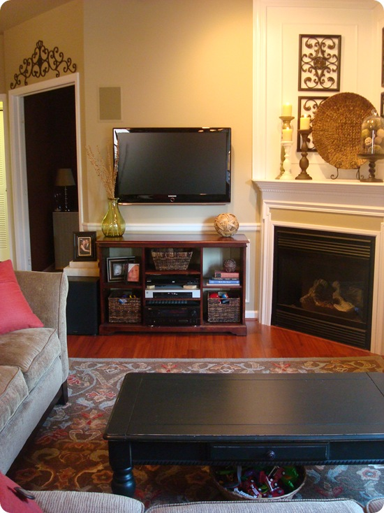 Working with corner fireplace