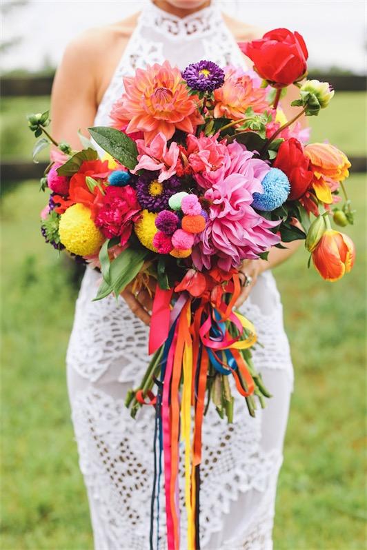 ramos de novia a todo color