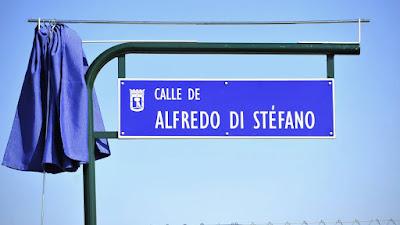 Inauguran la Calle Alfredo Di Stéfano