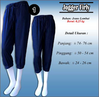 Model celana jeans jogger wanita terbaru
