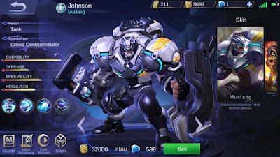 Guide Johnson Terbaru Dan Terkuat Mobile Legends