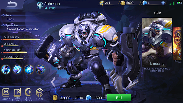 build item johnson mobile legends terbaik
