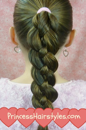How To 4 Strand Braid Tutorial Hairstyles For Girls
