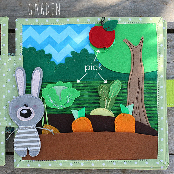 Quiet book Bunny day Garden