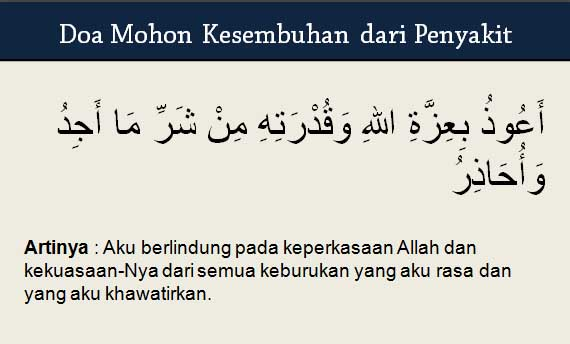 Doa Mohon Kesembuhan dari Penyakit