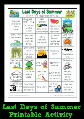 Last Days of Summer Printable Activity
