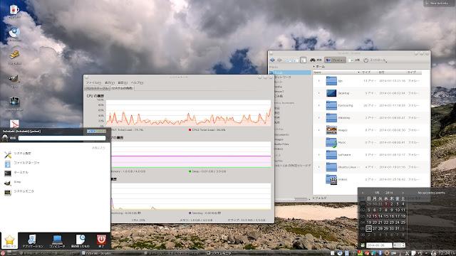 FreeBSD系OS、PC-BSDのデスクトップ