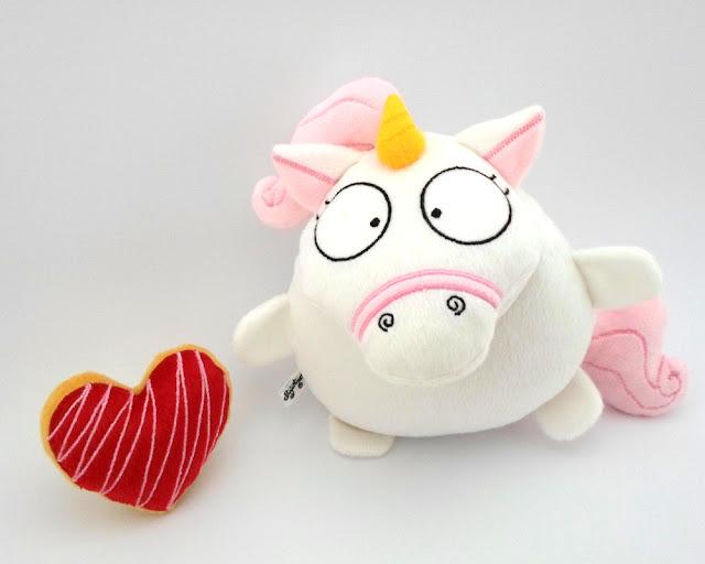 Yuny * Tierno Unicornio Rosa de Peluche Coleccionable  con corazon Guyuminos 2015 by Gattini gifts