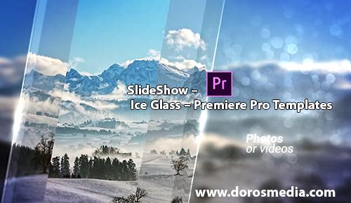 قوالب ادوبي بريمير قالب عرض SlideShow مميز للادوبي بريمير للمونتاج SlideShow – Ice Glass – Premiere Pro Templates