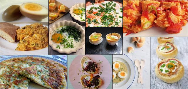 brunchgerechten met ei van diverse foodbloggers