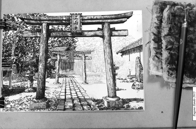 10-Evgenii-Sarychev-Japanese-Urban-Sketch-Drawings-www-designstack-co