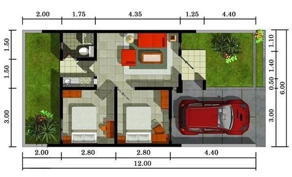 Foto Denah Rumah Minimalis Type 21 Modern