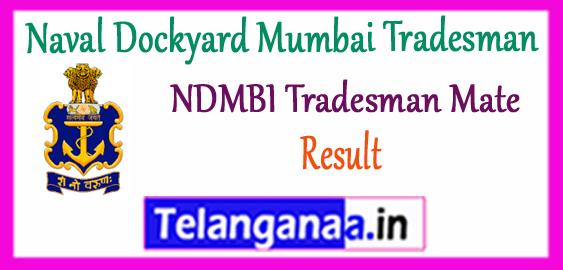 Naval Dockyard Mumbai Tradesman Mate Result 2017