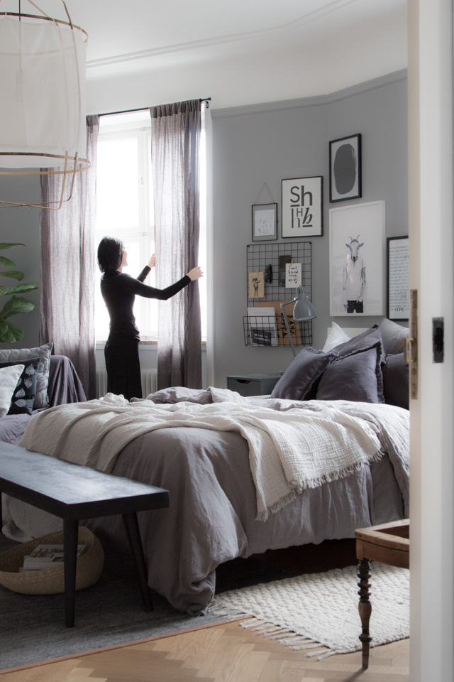 The beautiful bedroom of an interior designer!