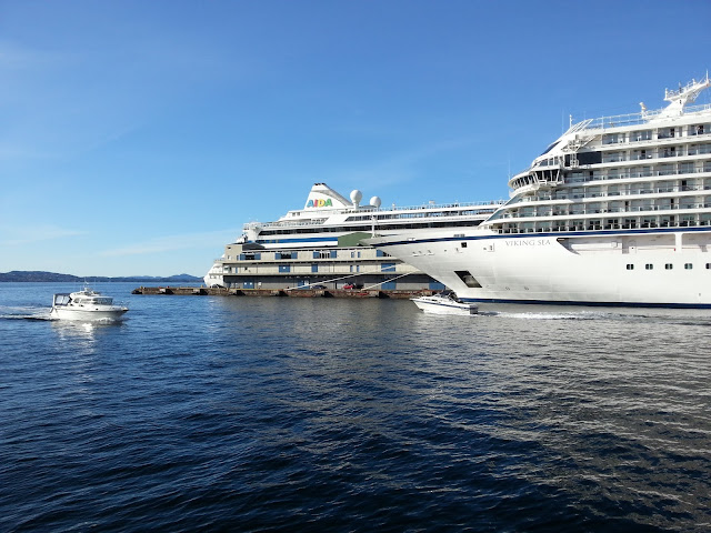 Cruise ship Viking Sea in Bergen, Norway
