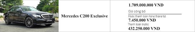 Giá xe Mercedes C200 Exclusive 2019