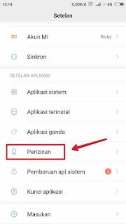 Setting Izin Aplikasi Xiaomi 1