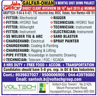 Hiring For Galfar - 9 Months Shut Down Project text image