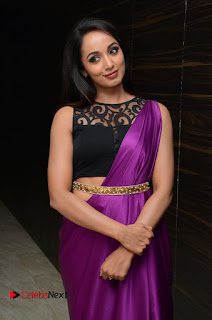 Tejaswi Pictures in Saree at Rojulu Marayi Movie Audio Release Function