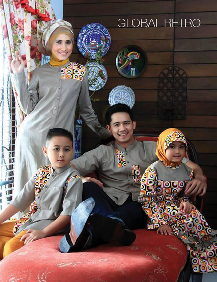 Model Baju Muslim Batik Couple Family Terbaru