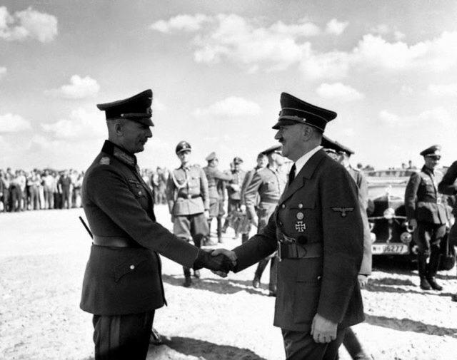 HItler and von Bock at Borisov, 4 August 1941 worldwartwo.filminspector.com