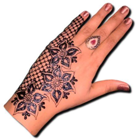 Back Hand Side Henna Pattern