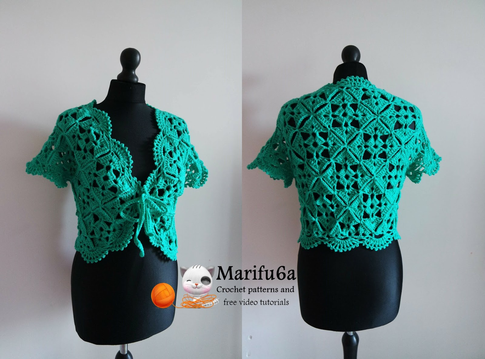 Free crochet patterns and video tutorials: How to crochet green ...