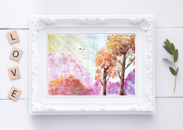 Magical Landscape Watercolor Painting