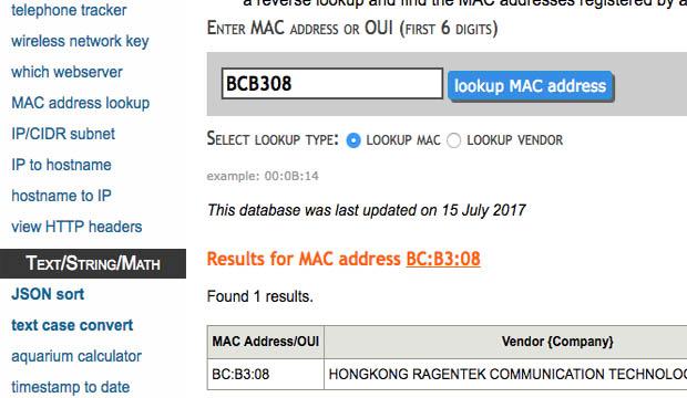 تعرف على إسم و نوع الأجهزة المتصلة بشبكة الواي فاي الخاصة بك عن طريق عنوان MAC