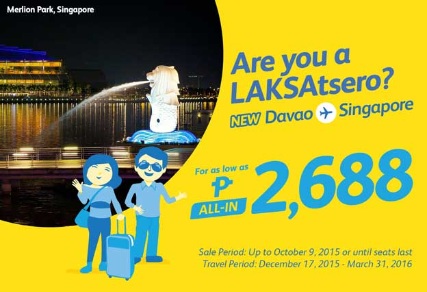 Cebu Pacific Singapore Promo 2015 to 2016